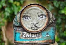 Materials: Tin Cans / #Art from smashed cans, crashed cans, painted cans, soda cans