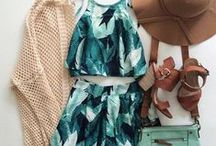 Summer Outfits / From rompers, summer dresses, bikinis to shorts, track tops and sunhats!