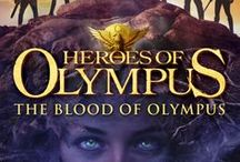 Heroes of Olympus Books / Book covers for the Heroes of Olympus series, featuring Percy Jackson, Annabeth Chase and Jason Grace