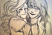 Annabeth & Piper Fan Art