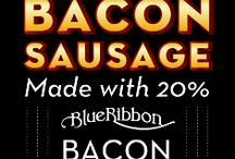Blue Ribbon Sausage & Bacon / Loosen your belt buckles. One bite and you'll be forever hooked on the most flavorful, naturally smoked sausage and bacon products in all of Texas.
