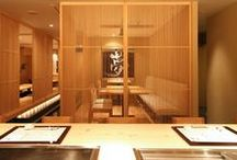 "Yumesush_寿司屋 / LSD design co., ltd. ""Yumesushi""/2008/sushi bar/Okinawa, Japan/interior and facade design counter, louver, wood, Japanese"