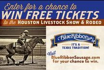 Let's Rodeo! / We have been proud supporters of the Houston Livestock Show & Rodeo since the 1950s. Tug on those boots and scoot on down and enjoy two great Texas traditions doin' what they do best -- feeding and entertaining folks Texas-style!