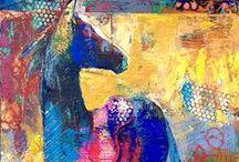 Cavalo - Colagem