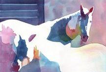 Cavalo - Aquarela