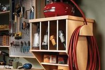 Workshop Inspiration / Workbench, tool and lumber storage ideas for a small workshop