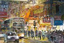 Les aquarelles urbaines de John Salminen