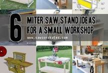Miter Saw Stand Ideas / DIY plans for Miter Saw Stands