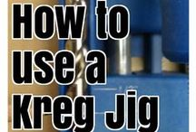 Kreg Jig Tips / The Kreg Jig is AMAZING! I use it for nearly every piece of DIY Furniture I build. It's featured in nearly all of my DIY projects and furniture plans. Here you'll find how to use a Kreg Jig tutorials and pocket hole tips.