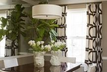 Decor | Dining Rooms / Gorgeous dining rooms, table centerpeices, dining room chairs, tables,benches and artwork