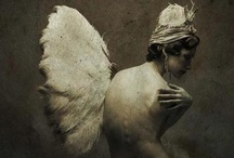 """you want to be bad, angel? / """"He who does not see the angels and devils in the beauty and malice of life will be far removed from knowledge, and his spirit empty of affection."""" Kahlil Gibran"""
