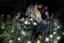 "moon garden / ""Night is a world lit by itself."" Antonio Porchia"