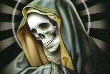 """la santa muerte / Mexico. """"A country where surrealism is Life and Death is a saint made of metal and resin.""""  Jose Gil Olmos, La Santa Muerte"""
