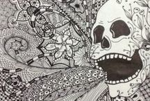 zentangle mania / A zentangle is a form of artistic meditation that uses repetitive patterns to create images.