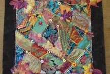 Crazy Quilts / Crazy quilts, embroidery stitches, beads, buttons,ephemera. Oh my!