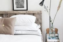 Bedroom Ideas / From linen to colours to bedside tables