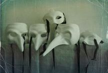 """maskerade / """"Horror is the removal of masks.""""  Robert Bloch / by mary johnson"""