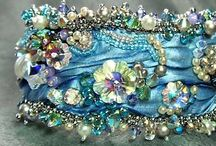 Fabric Jewelry / Fabric jewelry, pins, bracelets, necklaces, cuffs