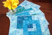 Tablerunners, Placemats, Mug Rugs / Table runners, mug rugs, coasters, napkins, tableware