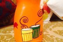 Mason Jar paint / Turn old jars into quirky new storage
