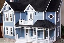 Doll Houses / I've always loved doll houses and Barbie Houses. My dad and I built one together, and I wish I had the time to build more to give away at Christmas.