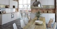 Kitchens - White / White is associated with light, goodness, innocence and purity. It is considered to be the color of perfection. White means safety and cleanliness.
