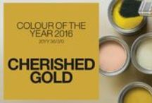 Colour of the year 2016 - Gold / We all need a bit of glamour in our lives and what better excuse than the fact that it is colour of the year for 2016. Some great ideas here - You can add glamorous gold without needing a gold card!