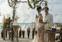 Exotic Wedding Dress for an Exotic Elopement or Destination Wedding / Maybe you'vedecided to ditch all the headaches of a big wedding, and just run away and get married in some exotic locale like Bora Bora, on the beach at sunset. You want a wedding dress that suits the exotic locale and takes his breath away when he sees you walking on the sand towards him... these fit the bill! You might not want to wear them to a traditional wedding with grandma sitting on the aisle, but they are perfect for a sexy and romantic elopement!