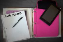 Tablet CUBBIE $14.95 / $14.95 Tablet CUBBIE is a great product for students, teachers or just anyone with a tablet. Fits easily and securely inside a 3 ring binder. Hassle free, worry free. Carry your tablet safely with you anywhere you go!   Tablet CUBBIE is patented and for sale on www.tabletcubbie.com