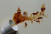 coffee art / művészet és kávé / design and art with coffee