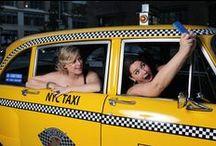 "Vintage NYC Taxi Photo Shoot ""Samara & David"" #happilyeverholland2015 / photo shoot Tribeca Rooftop"