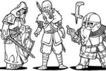 Line art / Fantasy, larp and medieval Line art.