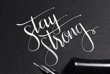 { Calligraphy } / Calligraphy inspiration