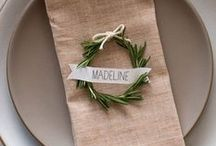 { Sit Here, Please } / Table & wedding placecards