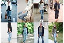 Estilo Moda - Jeans / Na moda, não existe item mais versátil, dinâmico e atemporal do que a calça jeans. Um verdadeiro ícone fashion nunca sai de moda. É  indispensável ter uma ou várias opções e modelos diferentes de para criar looks diferentes, cheios de estilo e para as mais diversas ocasiões.O jeans é o nome mais popular dos tecidos denim e brim. É o antigo nome inglês do fustão em Sarja.  / by Jardna Juca