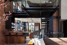 Mezzanine - Open space - House / Mezzanine, demi- étage suspensions, coursives