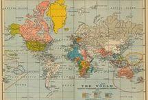 mapas y globos  / by P. de eusebio