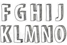 # ALPHABETS - SANDBERG / letters, alphabets, numnerals