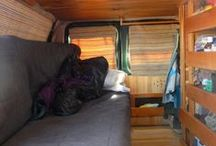 Van life / Advantages of living in a van: not paying rent, less restrictions on parking than with a camper van, you can go on vacation anytime, you can park it close to your job, a used one is cheap, offers better security than a tent, it can be registered in someone else's name, you can rent a parking space from someone if you want to stay in place etc.