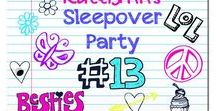 Sleepover Party / Bring some fun to your sleepover! Every party needs an invitation! Head over to PVC Party Invites to find the perfect one to fit your child's theme. https://pvcinvites.com/collections/all-invitations
