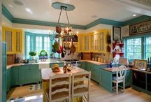 Architecture: Interiors: Kitchens / Modern or vintage: kitchens are the heart of a home!  / by Tina Nelson