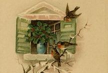 Art: vintage cards and art / Postcards, greeting cards, advertising... of a quaint, vintage style. / by Tina Nelson
