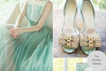 Mint wedding. Color inspiration / Mint, jade, gray jade. All these shades & some gold :)  For a friend.