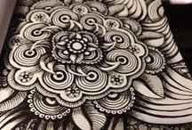 Zentangle & Doodles / zentangle and doodle art, tehnique, tutorial