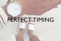 PERFECT TIMING / We have hundreds of gentleman and ladies watches to show you, and you can see designer influences here!