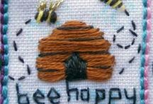 Inchie Art / Fabric, Beads, and mixed media in miniature works of Art