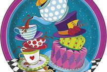 Mad Hatter Tea Party Supplies / Looking for a tea party with all sorts of crazy? Then your going to love our all new Mad Hatter Tea Party Supplies.The Mad Hatter Partyware is a vibrant new range that is perfectly matched with any of our solid colour partyware. Let your imagination run wild when it comes to Mad Hatter Party Decorations