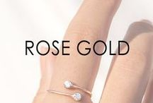 ROSE GOLD / Rose gold accessories from Boutique Goldsmiths and designer brands.