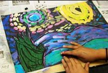 """""""VAN GOUGH"""" Inspired Projects / by florence cometz"""