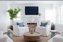 Living Room / Living Room decor ideas.  Classic formal living, relaxed family spaces, comfy sofas and armchairs.  The space where you live.